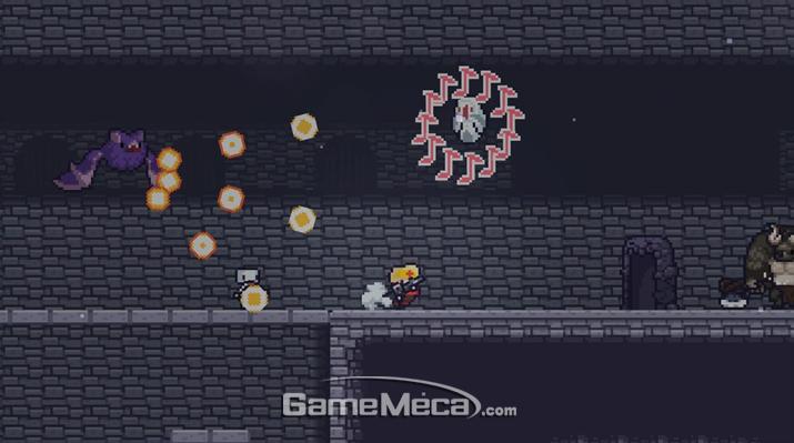 런앤건 형식에 로그라이크를 첨가한 '던그리드' (사진출처: 게임 공식 웹사이트)