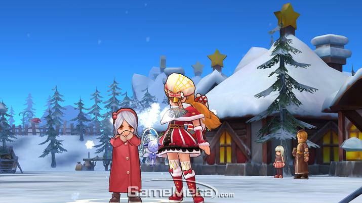 눈으로 덮여 있는 산타마을 '루티에' (사진출처: '선경전설 RO' 공식 홈페이지)