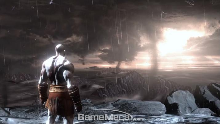 신들을 죽여 세계를 멸망시킨 '크레토스' (사진출처: '갓 오브 워 3' 게임 영상 갈무리)