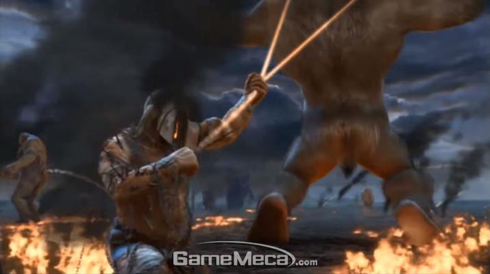신들과 타이탄들의 전쟁은 치열했고, 그 속에서 '악'이 태어나 창궐했다 (사진출처: '갓 오브 워: 어센션' 게임 영상 갈무리)