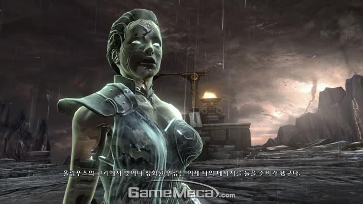 신보다 고등한 존재로 화한 '아테나'는 앞으로도 계속 등장할 것으로 보인다 (사진출처: '갓 오브 워 3' 게임 영상 갈무리)