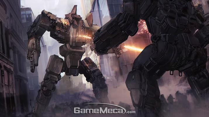 결투 중인 두 '배틀메크' (사진출처: '배틀테크' 공식 홈페이지)
