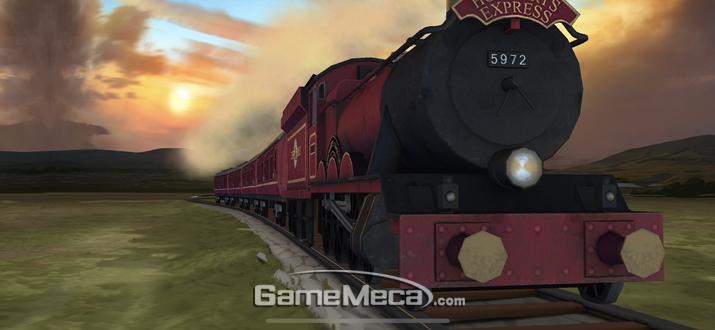 호그와트 급행열차를 타고 달려가면 (사진: 게임메카 촬영)