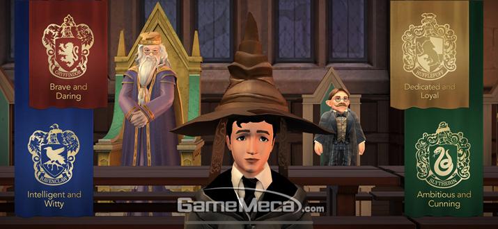 마법의 분류모자가 당신의 기숙사를 정해준다 (사진: 게임메카 촬영)
