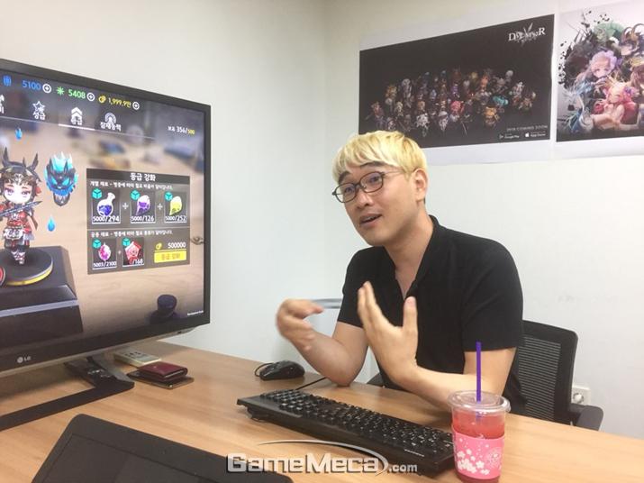 '데빌메이커 아레나'에 대한 포부를 밝히는 김택승 대표 (사진: 게임메카 촬영)(