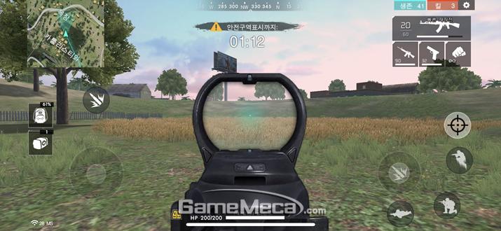 모든 돌격소총에는 기본적으로 레드 도트 사이트가 장착돼 있다 (사진: 게임메카 촬영)