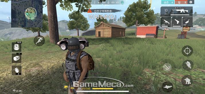 3레벨 헬멧은 '배틀그라운드' 헬멧과 똑같다 (사진: 게임메카 촬영)
