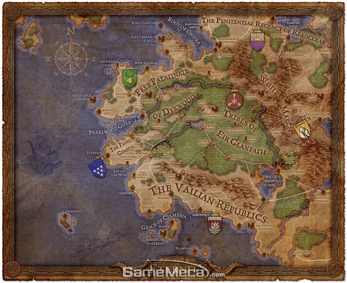 '필라스 오브 이터니티' 지역 지도 (사진출처: 스팀 공식 페이지)