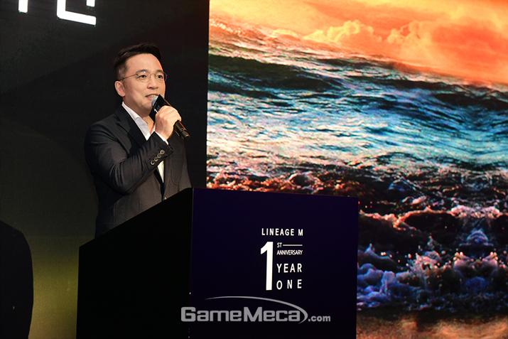 3년만에 공식 석상에 모습을 드러낸 김택진 대표 (사진제공: 엔씨소프트)