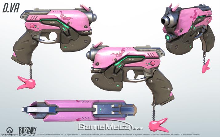 너프건으로 제작중인 D.va의 광선총 (사진출처: 게임 공식 홈페이지)