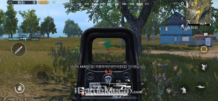 PC판을 그대로 모바일에 이식한 '배틀그라운드 모바일' (사진: 게임메카 촬영)