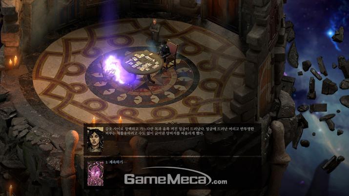죽음의 여신 '베라스'의 꼬임(?!)에 넘어가 다시 살아나는 주인공 (사진: 게임메카 촬영)