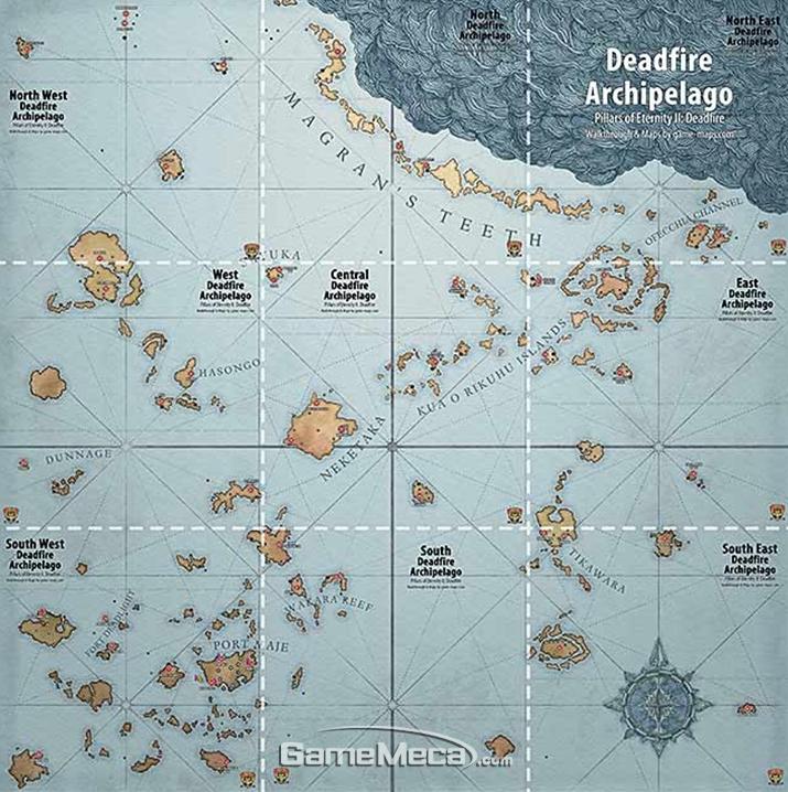 '데드파이어 군도' 맵 전경 (사진출처: 게임 공식 웹사이트)