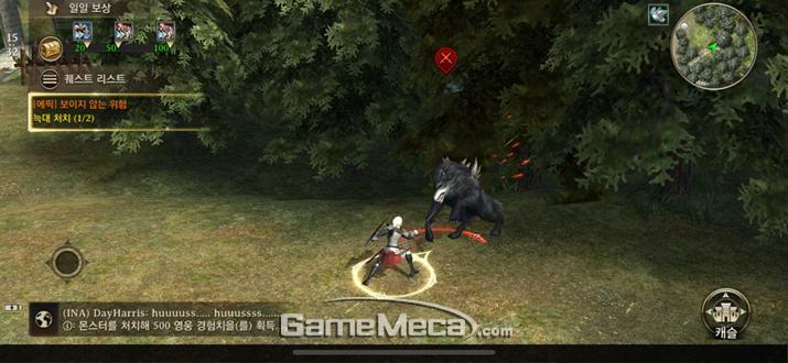 여타 RPG와 거의 동일한 형태의 마을모드 (사진: 게임메카 촬영)