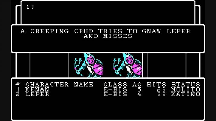 프롬소프트웨어 게임 철학에 큰 영향을 줬다는 '위저드리 4' (사진출처: 위키피디아)