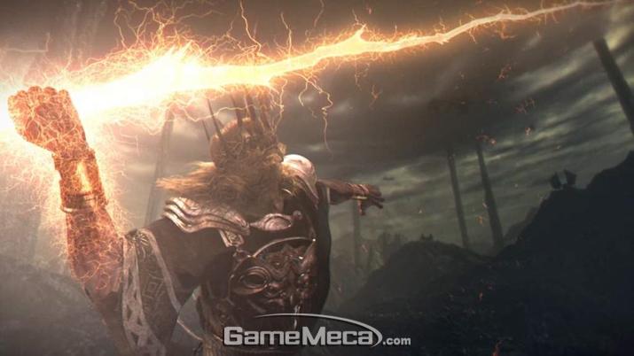 '왕의 소울'로 얻은 힘으로 드래곤을 죽이는 '그윈' (사진출처: 게임 내 영상 갈무리)