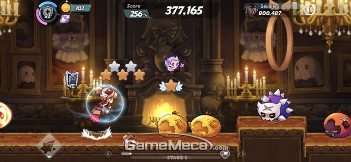 '윈드러너Z'는 전작의 게임 방식을 거의 그대로 옮겨왔다 (사진: 게임메카 촬영)