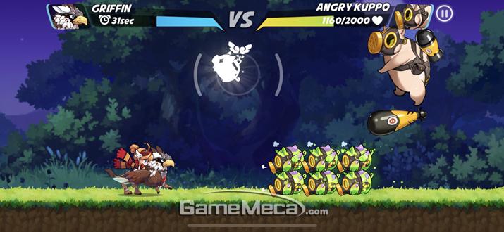 이 게임의 별미인 보스전은 '배틀 형식'과 (사진: 게임메카 촬영)