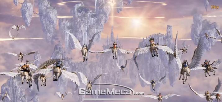 게임 시작하자마자 거대한 스케일과 정교한 그래픽을 선보인다 (사진: 게임메카 촬영)