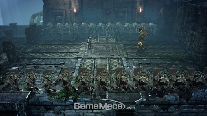 '모라이 유적'은 압도적인 물량의 적들과 (사진: 게임메카 촬영)