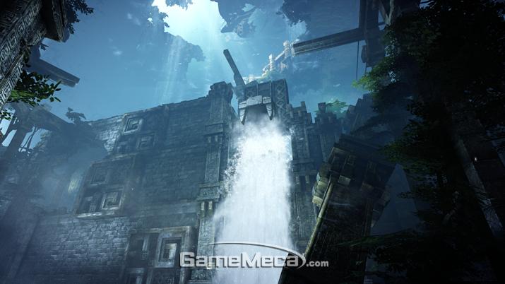 유저의 행동에 따라 물에 차있던 도시가 황금의 도시로 바뀌기도 한다 (사진: 게임메카 촬영)