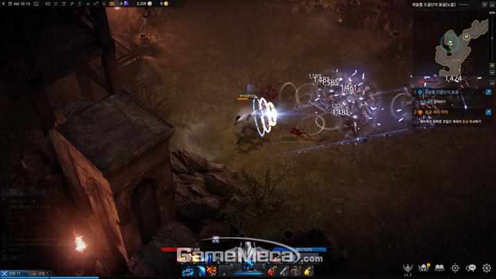 적을 일렬로 배치시킬 수 있도록 만드는 게 '호크아이' 조작의 핵심 (사진: 게임메카 촬영)