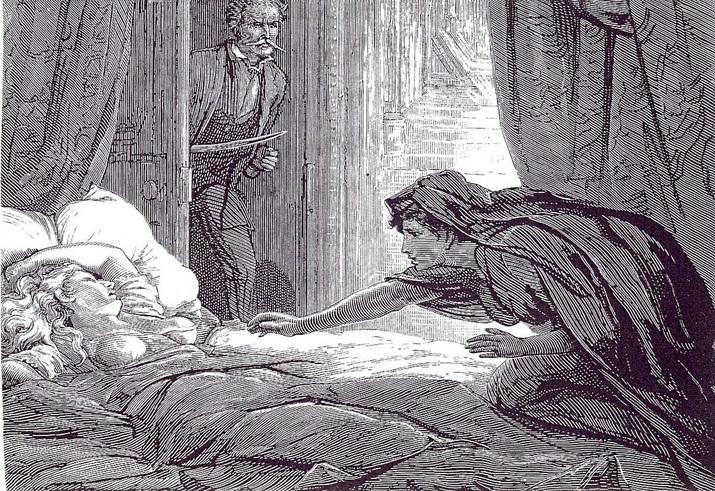 젊은 여성에게 성적으로 접근해 피를 빨아 죽이는 괴물 '카르밀라' (사진출처: 위키피디아)