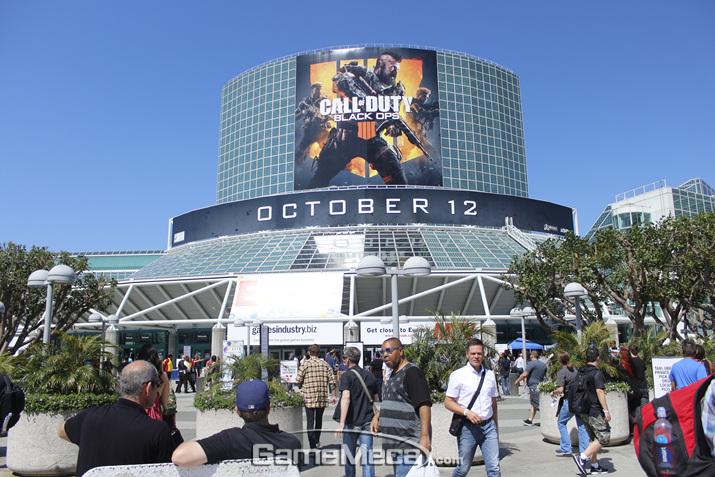 'E3 2018'이 개막한 미국 LA의 LA 컨벤션센터 전경 (사진: 게임메카 촬영)