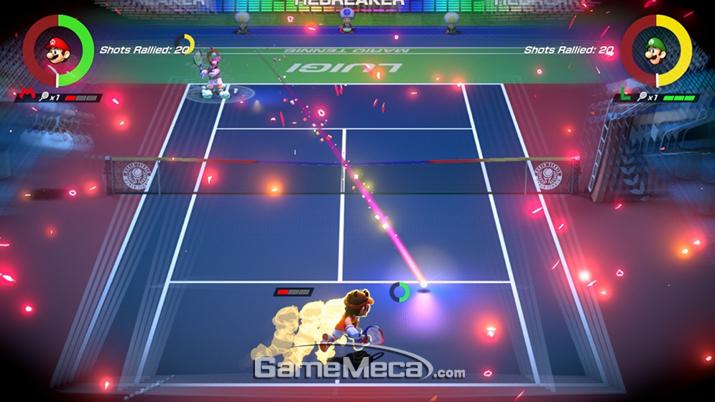 받아칠 수 없는 위치로 날아오는 공은 '가속' 이나 (사진출처: 게임 공식 홈페이지)
