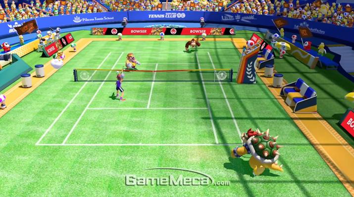 '조이콘'을 이용한 스윙모드는 실제 테니스 경기를 플레이하는 느낌을 준다 (사진출처: 게임 공식 홈페이지)