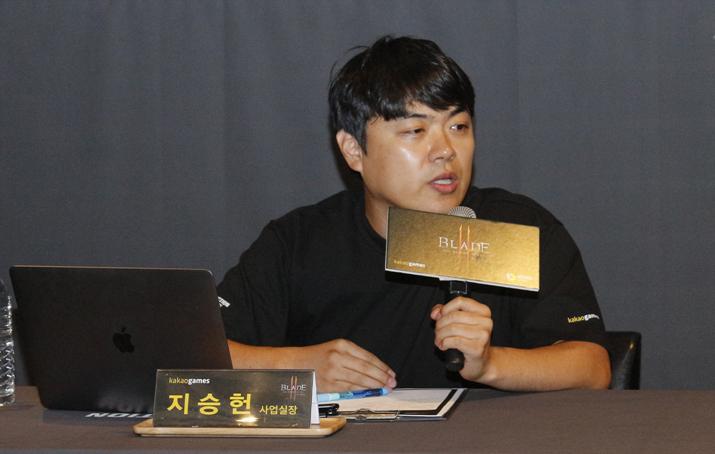카카오게임즈 지승헌 사업팀장 (사진: 게임메카 촬영)