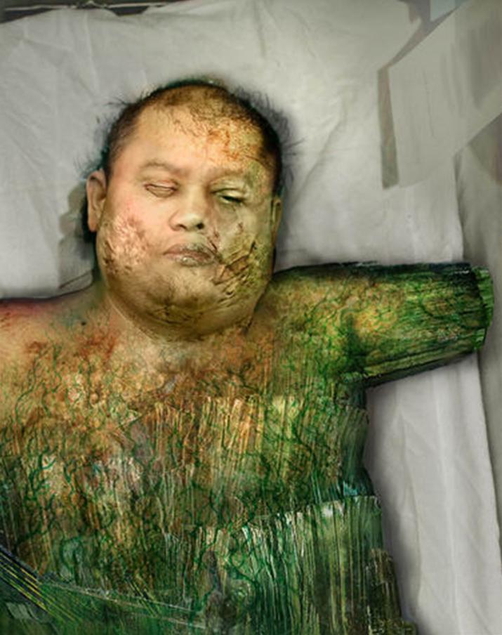 '타이베리움'에 노출돼 변이한 사람의 최후 (사진출처: C&C 위키)