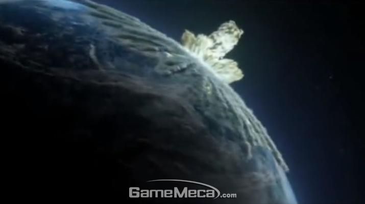 '액화 타이베리움' 대폭발로 '타이베리움'에 뒤이는 지구 (사진출처: 게임 내 영상 갈무리)