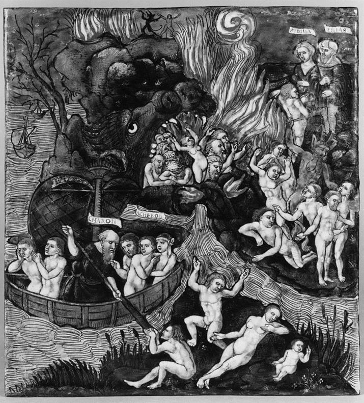 악마로 왜곡된 '오르쿠스'를 묘사한 16세기 그림 '아이네이아스의 지옥으로의 하강' (사진출처: 위키피디아)