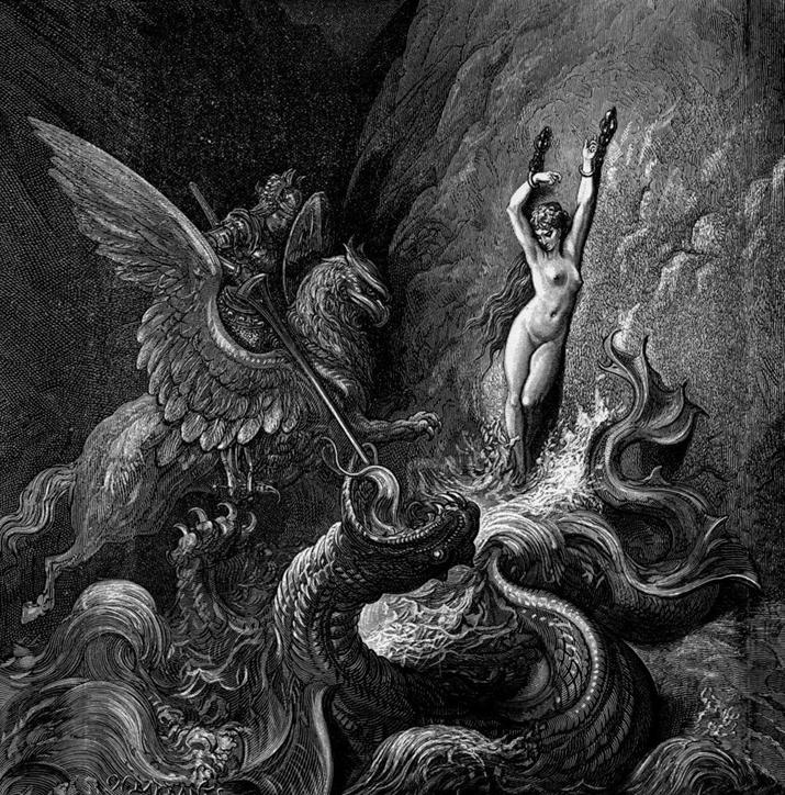 귀스타브 도레가 그린 '광란의 오를란도' 속 오크 (사진출처: 위키피디아)