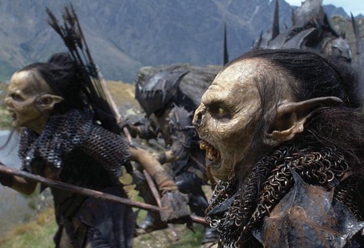 영화 '반지의 제왕: 두 개의 탑'에서 묘사된 오크 (사진출처: 위키피디아)