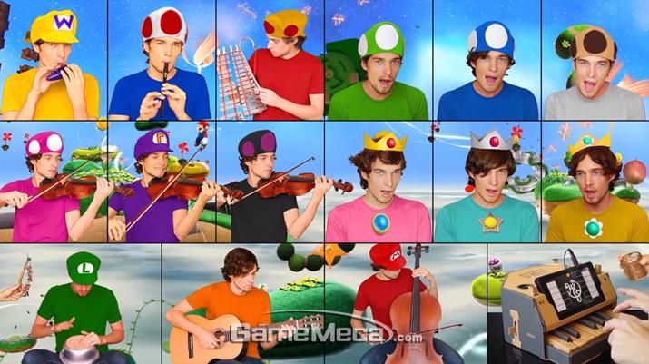 유튜브가 등장하면서 게임 음악을 커버해 공개하는 사람들이 많아지고 있다 (사진출처: FreddeGredde - The Superb Mario Medley 영상 갈무리)