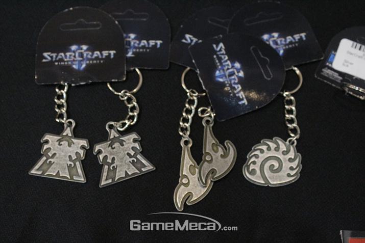 '스타크래프트 2' 키링도 준비돼 있다 (사진: 게임메카 촬영)