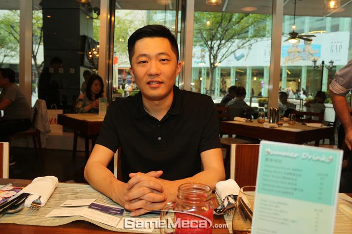 '블레스 모바일' 개발을 총괄하고 있는 아이스레몬스튜디오 천 치 PD (사진: 게임메카 촬영)