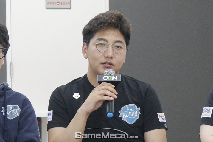 GC 부산 RED의 맏형 최성진 (사진: 게임메카 촬영)