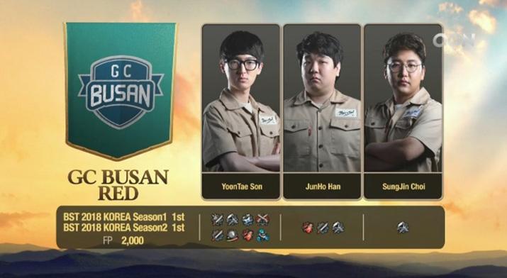한국을 대표해 출전한 GC BUSAN RED (사진출처: OGN 공식 유튜브)