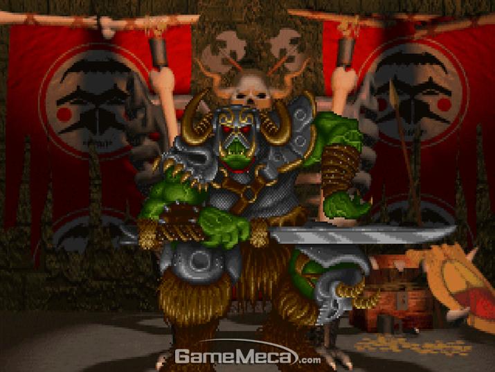 '워크래프트'에 등장한 '호드'의 수장 '블랙핸드' (사진: 게임 내 영상 갈무리)