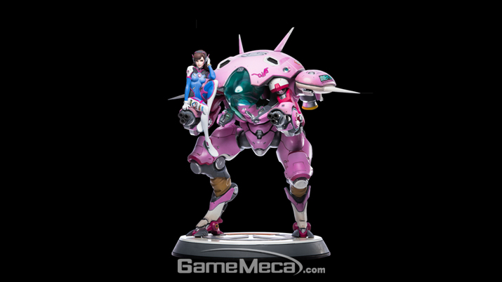 메카 덕분인지 다른 영웅들에 비해 압도적인 크기인 20.25인치를 자랑하는 D.Va 스태츄 (사진출처: 블리자드 기어 스토어 홈페이지)