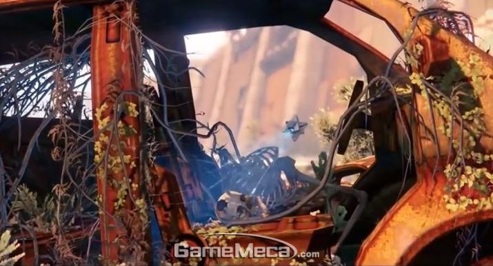되살릴 시체를 찾고 있는 플레이어 캐릭터의 '고스트' (사진출처: 게임 영상 갈무리)