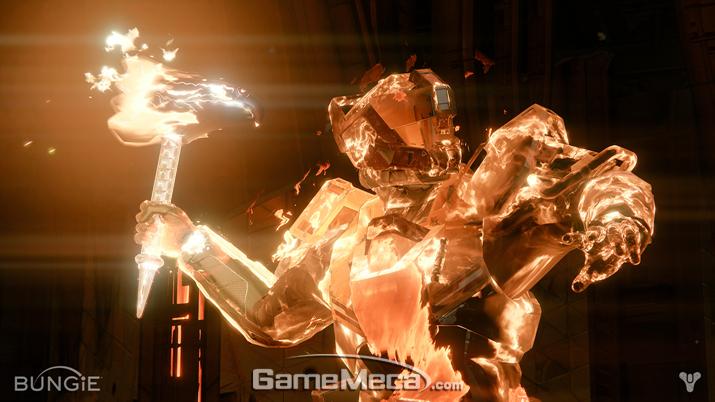'수호자'가 '빛'으로 이루어진 망치를 소환한 모습 (사진출처: 번지 공식 홈페이지)