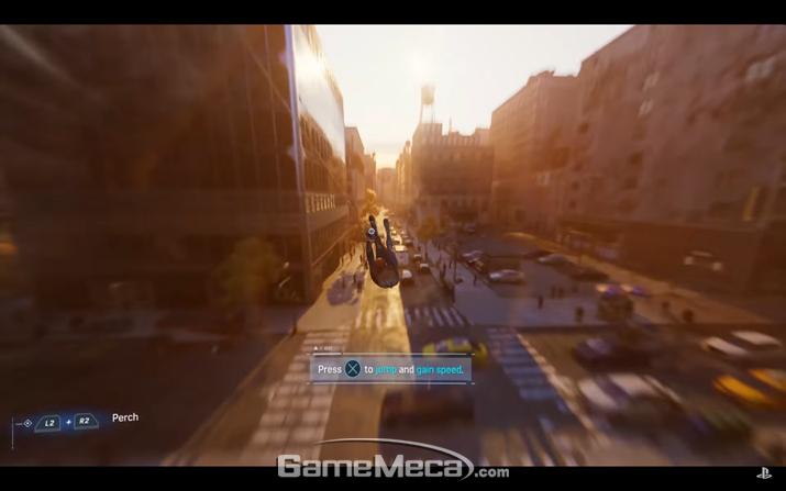 스파이더맨 시리즈 필수요소 (사진출처: 플레이스테이션 공식 유튜브 영상 갈무리)