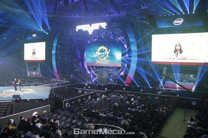 15일 열린 '블소 월드 챔피언십' 결선 현장 (사진: 게임메카 촬영)