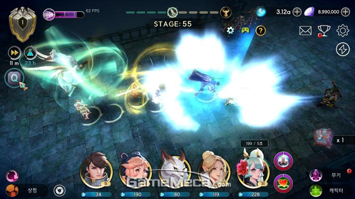 지켜야 하는 소녀 '유이나'의 특수 능력을 어떻게 활용하는지가 전투에서 큰 역할을 한다 (사진제공: 조이시티)