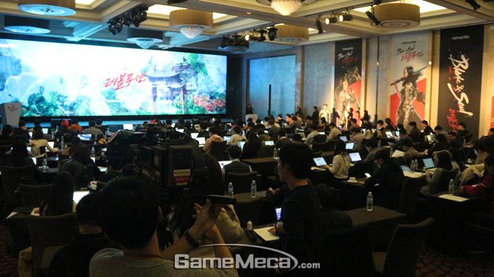 11일 진행된 '블소 레볼루션' 출시 기자간담회 현장 (사진: 게임메카 촬영)