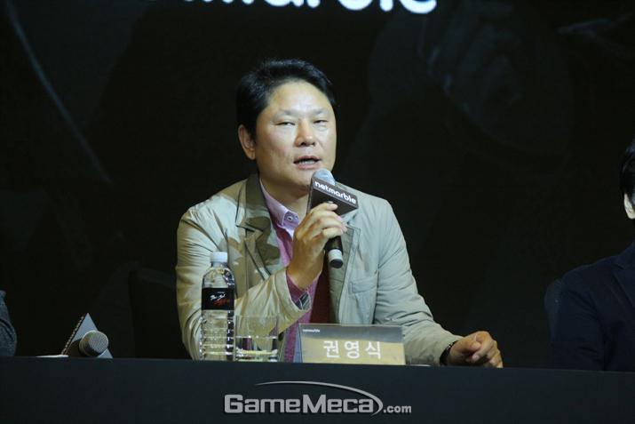 '블소 레볼루션'의 향후 스토리 분기를 언급한 넷마블 권영식 대표 (사진: 게임메카 촬영)